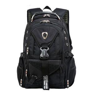 Colégio Backpack boa qualidade Viagem Caminhadas Mochila Homens Bolsa Escola encaixa 16 polegadas Laptop (azul, preto)