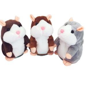 Felpa Animales Talking Hamster ratón mascota de peluche juguete del ratón Habla lindo del expediente del sonido hámster hablando registro de ratón de peluche juguete para niños DHD277