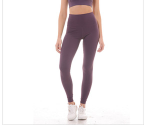 Women Carry Buttock Exercise Running Pants Slim Fitness Gym Leggings Height Waist Simple Design Yoga Pants