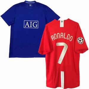 Retro clássico 2007 2008 2009 camisas de futebol Manchester ROONEY SCHOLES GIGGS RONALDO 07/09 united Retro camisa de futebol