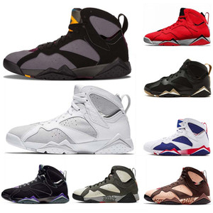 Top air jordan retro 7 jumpman 7 Ray Allen 7s Raptro Charcoal Barcelona Nights Reflective eines Champions Mens-Basketballschuhe Icicle Männer Sportschuhe Turnschuhe
