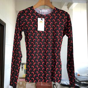 Marina Serre tocando fondo camiseta mujer Loog manga Venta caliente media luna medias Top camisetas marina Serre camiseta mujer