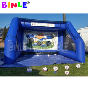 3.6mx3m квадратного Надувных американского футбол бросание игра Вызов спортивных игр, гигантское надувное поле для регби стойка ворот