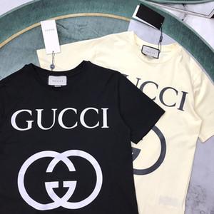 2020 الإيطالي أوائل الربيع والصيف الأخير إلكتروني الطباعة أزياء تي شيرت الرجال والنساء ذات جودة عالية O- العنق القطن عارضة أعلى تي شيرت