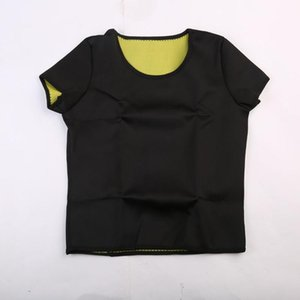 2020 Fashion Sport Women Hot Neoprene Bodyshaper Slimming Waist Fitness Yoga T Shirt Sportwear Tops NEW