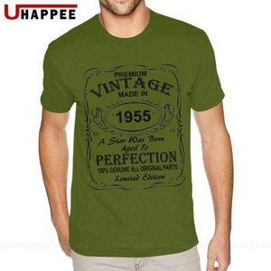День рождения Идеи подарков для мужчин и женщин 1955 года рождения Tee Мужская мода с коротким рукавом Хлопок Мужчины футболки оптом 1980s Apparel