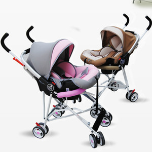 Portable Infant Baby Sleeping Basket Newborn Cradle Car Safety Seat Baby Stroller 2 In 1 Folding Travel System Pram Pushchair