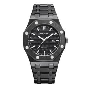 PINTIME Mens Moda Relógio de luxo de aço inoxidável Royal Oak 41 milímetros Mens Sport Watch Quartz Movimento Offshore relógios de marca por atacado baratos