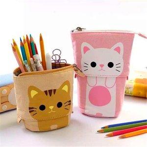 Brand New Pencil Case Zipper Cute Cat Creativo Matita Box per bambini Forniture scolastiche Studente regalo di cancelleria