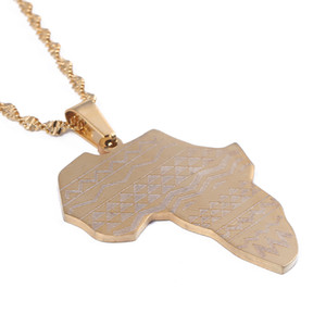 Map Of Africa Pendant Necklaces Trendy African Map Chain Jewelry for Women