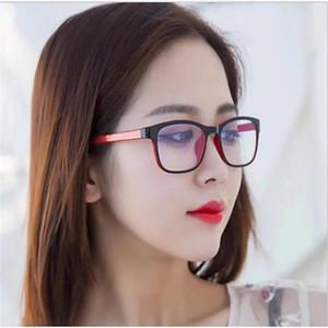 New exterior preto e interior óculos moldura vermelha para as mulheres luz e cor confortável óculos espelho plano moldura azul à prova de luz para os homens