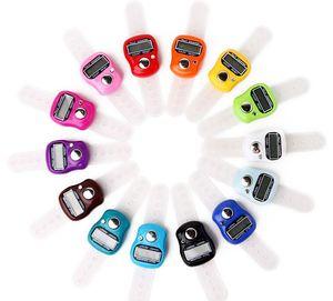 Finger digitale del riscontro della mano del contatore elettronico digitale LCD a mano anello Knitting Row contatore del riscontro colore casuale SN664