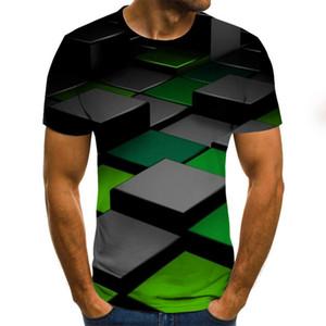 Three-dimensional vortex Men Tshirt 3D Printed Summer O-Neck Daily Casual Funny T shirt