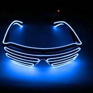 Festa LED piscando Luminous Óculos acendem tons piscar luminosa delírio óculos Natal de Ano Novo favores festiva atmosfera adereços