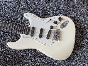 Custom Shop Ritchie Blackmore Signature ST Alpine White Elecric Guitar Scalloped Fingerboard, Big Headstock, Triangle Neck Plate