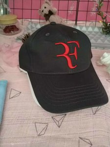 En çok satan Sıcak Federer RF Tenis şapka kap Yaz Sıcak Erkekler beyzbol Şapkası Pamuk Avcılık Şapka Açık New York Spor Düz Şapka Moda Kadınlar