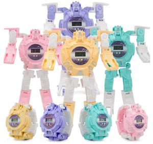 2019 nuovo arrivo giocattoli bambini deformabile Guarda Carton Mecha Robot The Avengers Ciao Kitty congelata Biancaneve Guarda orologi elettronici Bambini
