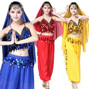 Belly dance sequins bra performance suit Lantern pants clothes stage clothes Indian dance chiffon lantern pants stage costume