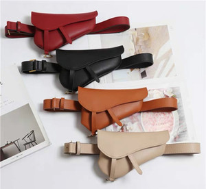 2019 New Fanny Bags For Women Leather Waist Belt Pack Solid Messenger Shoulder Bag Pouch Women Waist Wallet Designer Belt Pouch0b69#