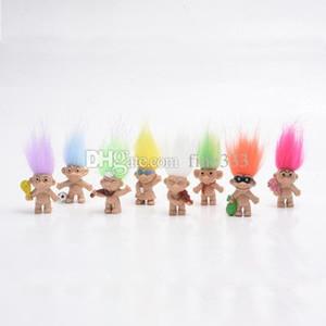 O jardim de infância New Kawaii Troll cabelo colorido Boneca Membros da família Troll Presentes Boy Girl Trolls brinquedo