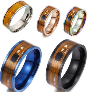 Smart NFC Rings Fashion Intelligent 316L Titanium Steel ring Wedding Jewelry hip hop jewelry mens rings engagement rings drop ship