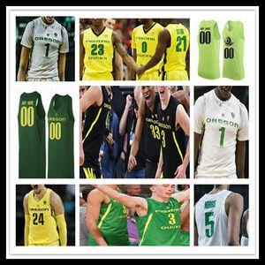 Personalizzato 2020 Oregon Ducks College Basketball Jersey Payton Pritchard Chris Duarte Will Richardson Anthony Mathis Shakur Juiston Okoro Dante