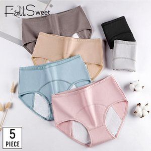 FallSweet 5 PC / pack! Frauen Zeitraum Panties Sexy Leak Proof Menstrual Briefs Frau Unterwäsche Cotton Plus Size Panties