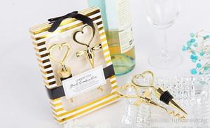 Золотое вино наборы винных пробок и нож сувениров для свадьбы Невеста и жених подарок Means свадьбы идеальной пары