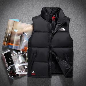 Los nuevos Mens caliente de la chaqueta sin mangas Vestmen de las mujeres y de la cara de invierno manera ocasional Coats masculino abajo chaleco de los hombres del chaleco del espesamiento Plus