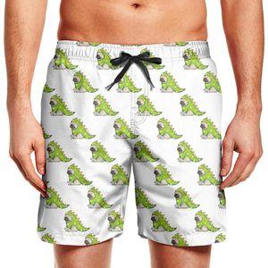 Men's swimming trunks Funny pug dinosaur Pugosaurus Dino gym beach board shorts custom puppies with red santa love haert Pug Art Cute in