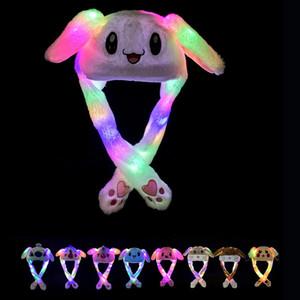 33 أنماط LED ضوء القطيفة هات الكرتون الحيوان كاب للأرنب القط الأرنب الأذن نقل الضوء الكبار القبعات عيد الميلاد للأطفال شتاء دافئ القبعات DBC VT1166