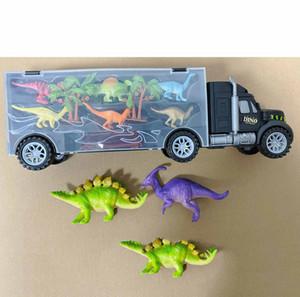 Children Dinosaur Toys Kids Dinosaur Transport Container Truck Child Container Storage Small Dinosaurs Trucks 2020 Popular Creativity New