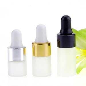 1 2 3ml Mini Glass Dropper Bottle Refillable Empty Container Eye Dropper Vials With Pipette For Cosmetic Perfume Essential Oil Bottles