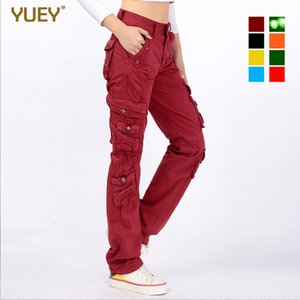 Womens Cargo Pants Casual Harem Tactical Trousers Multi Pockets Joggers Streetwear Pants Solid Candy Color Plus Size