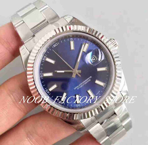 Luxury EW Factory Watch Mens Automatic Cal. 3235 Movement Full Steel Blue Dial Men Watches Sapphire Dive 41MM 116334 Date just Wristwatches