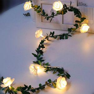 / 40 20/10 Gül Çiçek Peri s Pil / USB / Güneş Enerjili Düğün Sevgililer Günü Partisi Noel Garland Decor açtı 50leds /