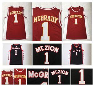 Tracy McGrady 1 T-MAC High School Basketball Jersey MT.Zion Mount Zion Christian NCAA College Tracy McGrady Black Shirts مخيط