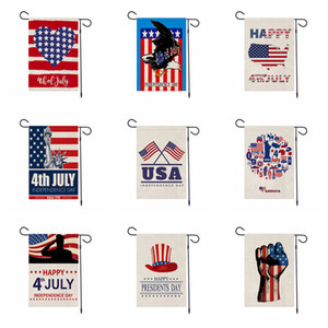 45 * 30CM USA indépendance jour jardin drapeau président America vacances imprimé 4ème heureux bannière linge Juillet décoration fête en plein air prop FFA4019-1