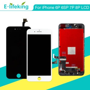 Lcd para iphone 6 plus 6sp 7 p 8 plus touch screen display substituição digitador assembléia para iphone 6 p 6sp 7 p 8 p tela lcd 5.5 ""