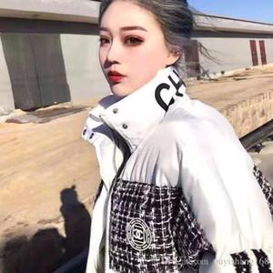Высокого качество дизайн социальной девушка быстро веб-знаменитость прекрасный большого ребенок зима новый утолщенный теплое свободные дамы лоскутного хлопок одежды пальто фа