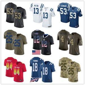 Indianapolis Özel Colt Formalar Andrew Luck T.Y. Hilton Darius Leonard Marlon Mack Jack Doyle Adam Vinatieri Kadınlar Gençlik Erkekler Futbol