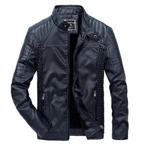 TUOLUNIU 2017 yeni kış erkek deri ceket motosiklet erkekler ceket artı kadife PU deri ceket Windproof