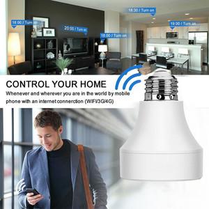 Smart WiFi LED Support de lampe Base Ampoule Prise de courant Sans fil APP Télécommande Adaptateur Adaptateur E26 / E27 Bases