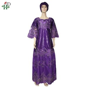 Hd Dashiki African Dresses For Women Bazin Riche Getzner 2020 New Evening Party Ladies Maxi Dress With Turbans SP-55-QS