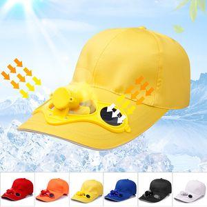 Estate Uomo Donna Sport Outdoor Protezione solare Cappello da baseball Cappuccio con Solar Sun Power Ventola di raffreddamento Casual Sun Visor Cap