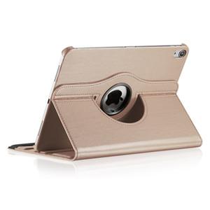 Para el nuevo iPad 2017 2018 Pro 11 9,7 10,5 12,9 360 grados de rotación de Lichee del cuero del caso para el iPad Mini Aire2 1/2/3/4/5