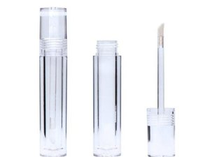 Empty 7.8ML Lipgloss Tubes Round Transparent Crystal Lip Gloss Tubes With Wand Empty Lip Gloss Tubes Clear Fast Shipping