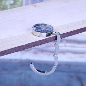 Ev Bahçe Askı Taşınabilir Metal Katlanabilir Çanta Tutucu Cüzdan Çanta Shell Çanta Çanta Kanca Askı Katlanır Masa Kelebek Hook Katlanmış