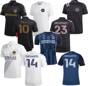 новый Интер Майами Socer Джерси 2020 2021 LA Лос-Анджелес Гэлакси ФК LAFC Beckham 20 21 VELA Чичарито маек MLS INTER MIAMI CF МУЖСКИЕ