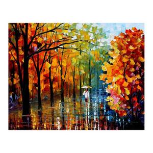 72x48 Pallet coltello Foresta percorso soggiorno dipinto a mano su tela pittura a olio divano sfondo decorazione della parete pittura pittura europea